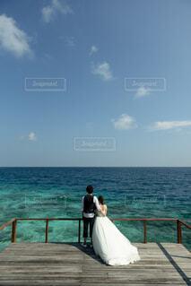 モルディブでの結婚式の写真・画像素材[4864824]