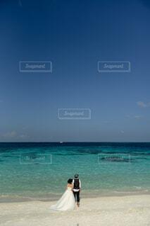 モルディブでの結婚式の写真・画像素材[4865099]