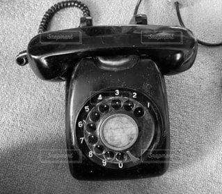 黒電話の写真・画像素材[4797033]