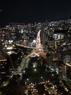 東京タワーからの街の夜景の写真・画像素材[4882783]