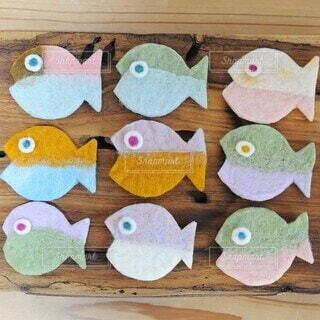 羊毛フェルトのお魚の写真・画像素材[4803223]