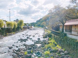 河原のある街の写真・画像素材[4897223]