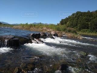 流れる川の写真・画像素材[4828714]