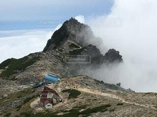 中央アルプス 宝剣岳の写真・画像素材[4836568]