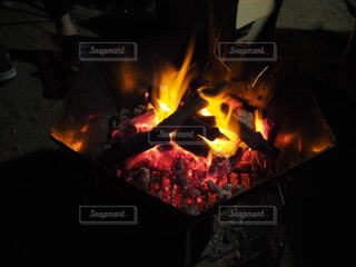 初めてのキャンプの写真・画像素材[4814433]