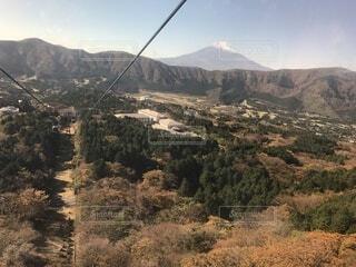 ロープウェイからの富士山の写真・画像素材[4813515]
