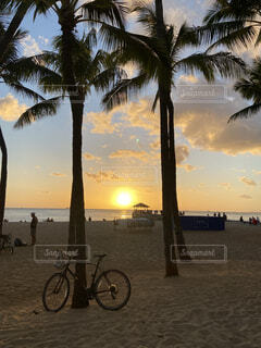 最高に美しいハワイの夕焼けの写真・画像素材[4816711]