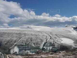 広大な氷原の写真・画像素材[4825135]