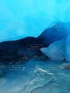 氷河の中の写真・画像素材[4825141]