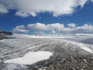 広大な氷原の写真・画像素材[4825153]