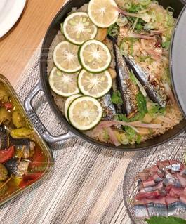 秋刀魚ごはんの写真・画像素材[1467959]