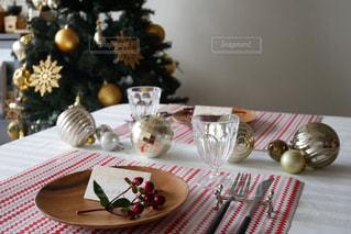 クリスマステーブルコーディネートの写真・画像素材[1604164]