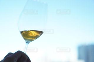 ワインを一杯飲むの写真・画像素材[2916980]