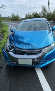 事故の車の写真・画像素材[4835918]