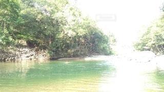 そうだ!田舎に行こう。神々しさ増す朝の川。の写真・画像素材[4874456]