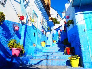 青い町の写真・画像素材[1002447]