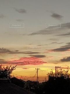 早朝の空の写真・画像素材[4840835]