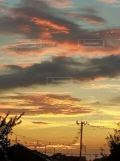 早朝の空の写真・画像素材[4841284]