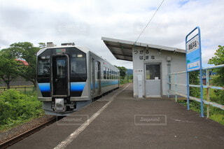 津軽浜名駅にての写真・画像素材[4919740]