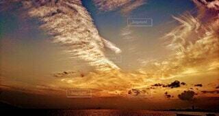 江井島の夕日の写真・画像素材[4877699]