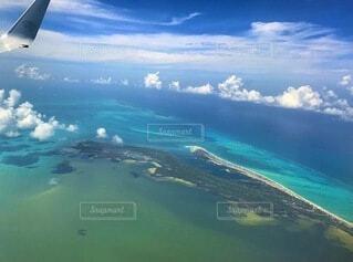 飛行機からの景色の写真・画像素材[4842915]