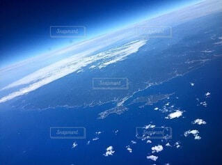 飛行機からの景色の写真・画像素材[4842916]