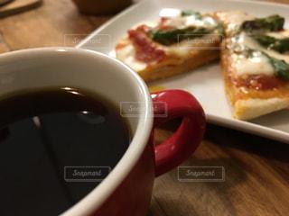 食べ物,飲み物,カフェ,COFFEE,赤,カップ,ピザ