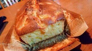 家で作ったパウンドケーキの写真・画像素材[4845712]