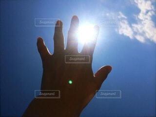 太陽を掴むの写真・画像素材[4851250]