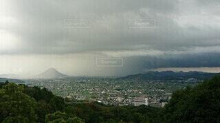 ゲリラ豪雨の風景の写真・画像素材[4851641]