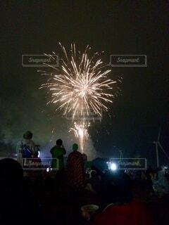 フェスでの花火@北海道の写真・画像素材[4856001]