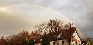 虹の架け橋の写真・画像素材[4857590]