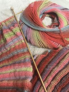 カラフルな編み物の写真・画像素材[1035822]