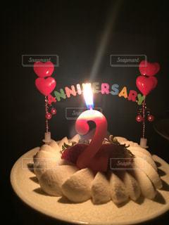 2周年ケーキの写真・画像素材[1035856]