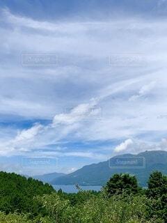 空と湖の写真・画像素材[4874002]