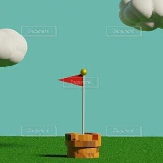 旗の写真・画像素材[4872819]