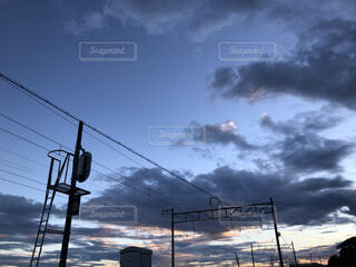 線路と空の写真・画像素材[4877690]