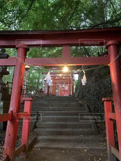 稲荷神社にての写真・画像素材[4868219]