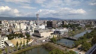 佐賀市を高い所から見ましたの写真・画像素材[4884323]