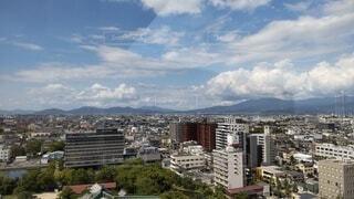 佐賀市を高い所から 遠くには天山の写真・画像素材[4884324]