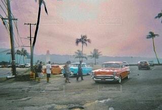 カラフルな車の写真・画像素材[4939288]
