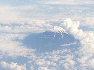 富士山上空の写真・画像素材[4874617]