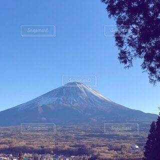 冬の富士山の写真・画像素材[4865733]