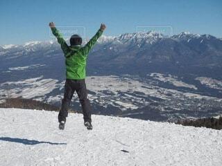 入笠山から八ヶ岳連峰を望むの写真・画像素材[4863588]