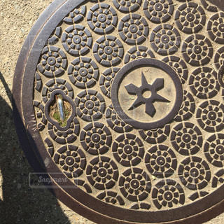 伏見稲荷のマンホールの写真・画像素材[1015226]