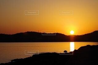 瀬戸内海周防灘の夕日の写真・画像素材[4881312]