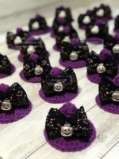 紫のハロウィン帽子の写真・画像素材[4870479]
