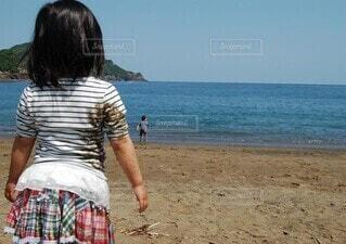 海での思い出の写真・画像素材[4867493]