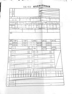 白紙の源泉徴収票の写真・画像素材[4876645]