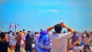 エアレースを観戦する人々の写真・画像素材[4884520]